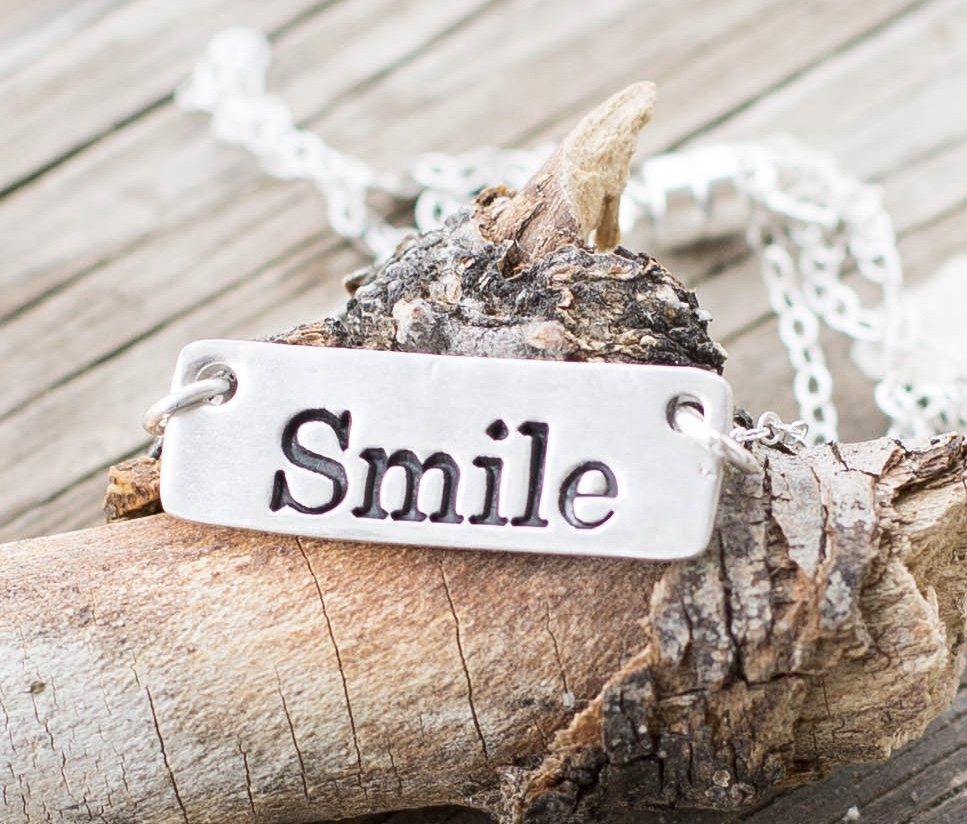 Smile sterling silver necklace