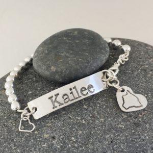 Name Silver Bracelet Charm