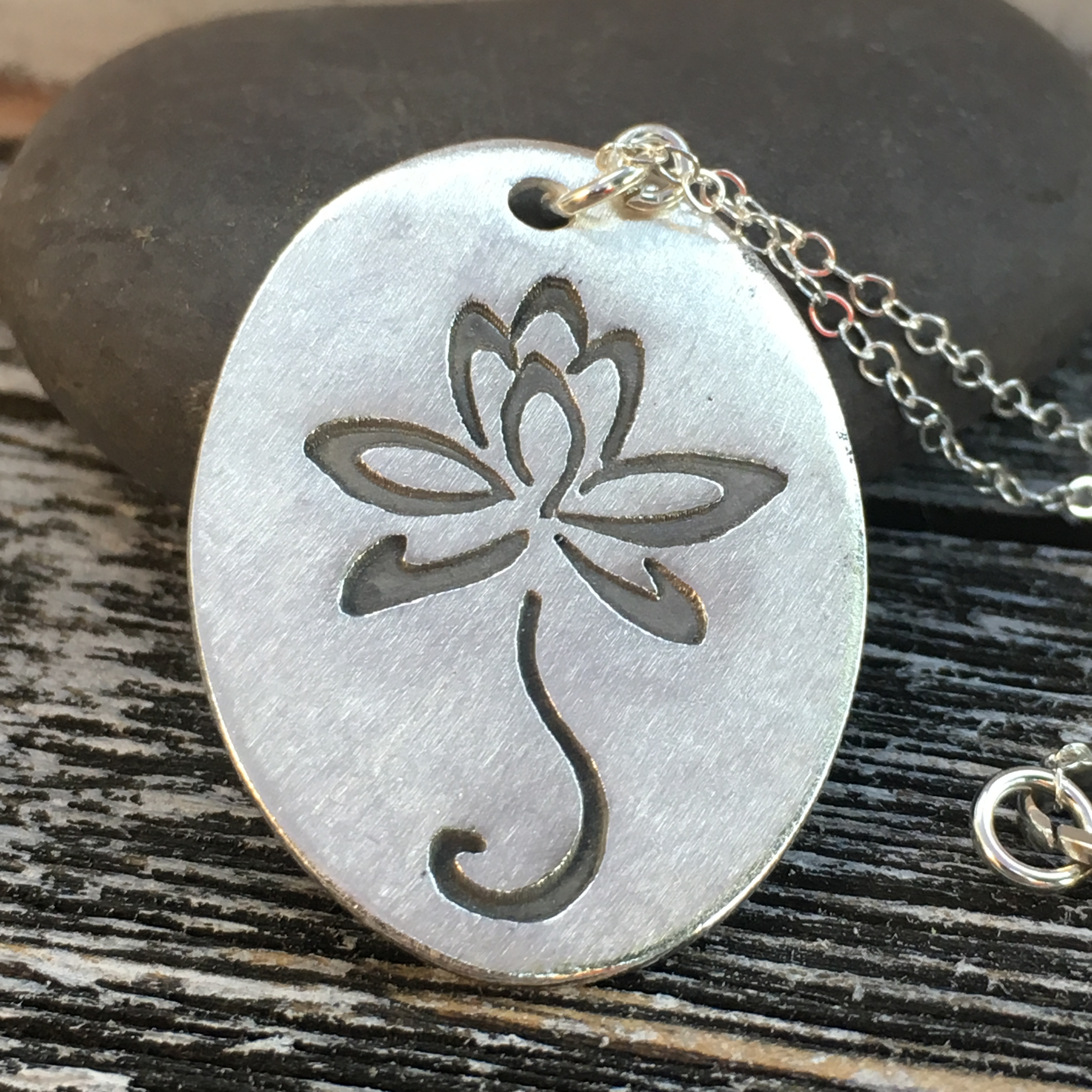 love tribello life heart l necklace mantra by flower lotus jewellery yoga